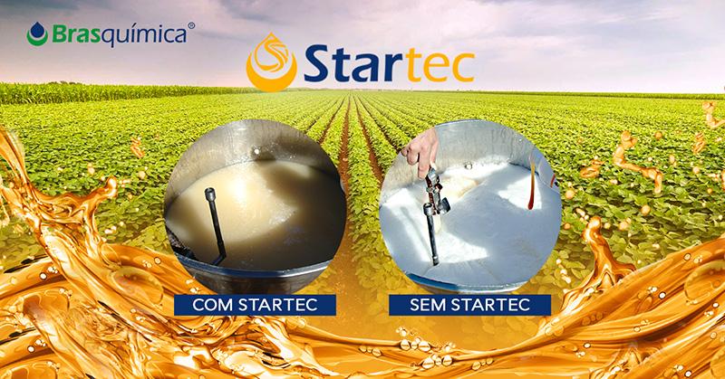 Ação antiespumante do Startec permite maior aproveitamento da calda